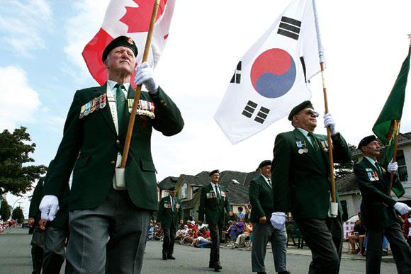 Image result for 캐나다 한국 전 용사들